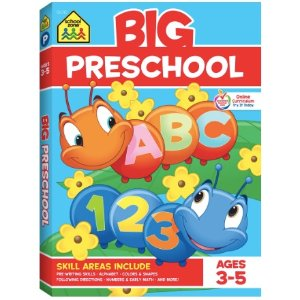 New Markdowns: School Zone - Big Preschool Workbook - Ages 3 to 5