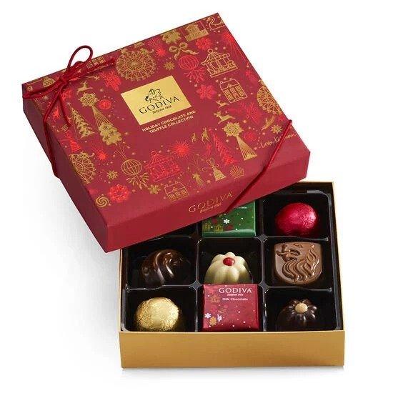 什锦巧克力节日礼盒 9颗
