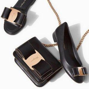 5折+额外9折 经典蝴蝶结单鞋$259收Salvatore Ferragamo 精选名媛美包、美鞋热卖