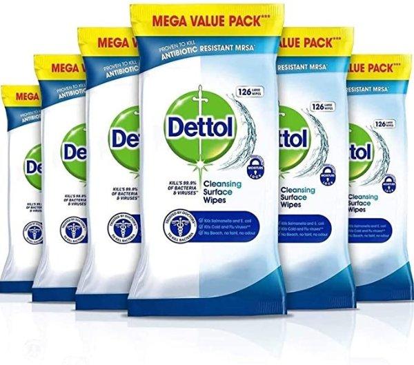 抗菌表面清洁湿巾 6包 共756片