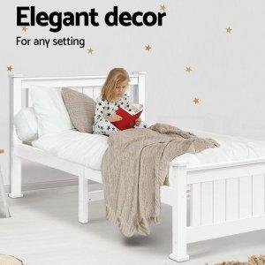 $119 (原价$499)eBay 白色上等木制单人床架