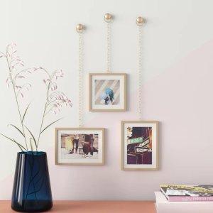 Hashtag Home墙壁装饰相框3件套