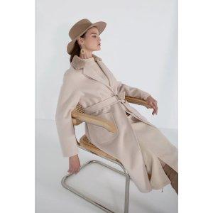 Gigi 燕麦色羊绒大衣