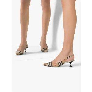 Burberry复古低跟鞋