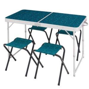 可折叠桌椅 可野营用 With 4 Seats