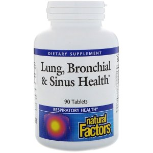natural Factors Lung, Bronchial & Sinus Health, 90 Tablets