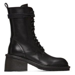 Ann DemeulemeesterBlack Chunky-Heel Combat Boots