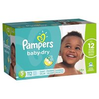 Pampers Baby-Dry 宝宝尿不湿 5号, 112 片