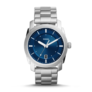 Extra $10 OffFOSSIL Machine Blue Dial Stainless Steel Men's Watch
