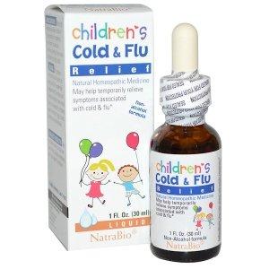 NatraBio 儿童感冒滴剂 (30 ml)