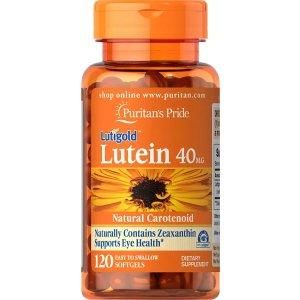 Puritan's PrideLutein 40 mg with Zeaxanthin 120 Softgels | Eye Health Supplements | Puritan's Pride