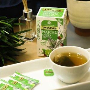 全线5折 £1.34收抹茶风味茶包Twinings 风味茶包热促 排毒茶、能量茶、安神茶都有