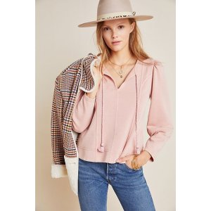 AnthropologieJeanne Puff-Sleeved Pullover
