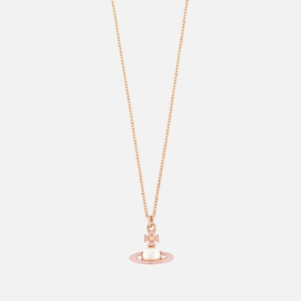 粉环珍珠土星项链