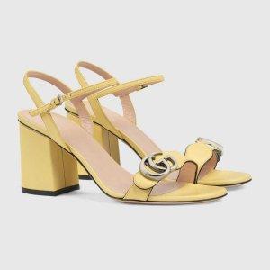 Gucci鹅黄色凉鞋