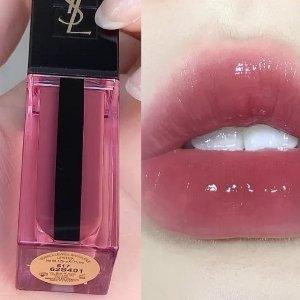 8折+送礼 €29收网红色限今天:YSL 水光唇釉热卖 少女感玻璃唇必备