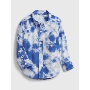 Gap小童 扎染衬衫