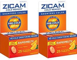 $19.92Zicam 感冒速溶片 橙子味 25片 x 2盒