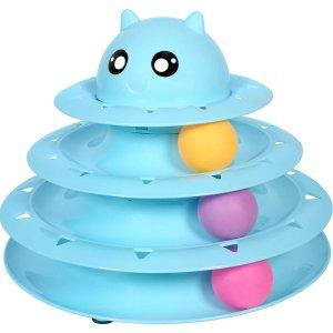 $6.99UPSKY 猫咪球塔玩具 益智又健身的猫咪玩具