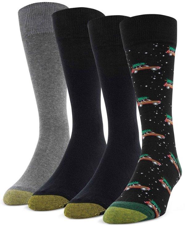 男士袜子4双装