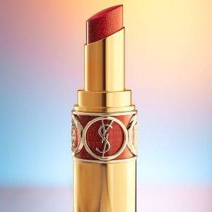 8折起+送限量香水包YSL美妆 热促享不停 方管1966、小金条#28高阶胡萝卜红
