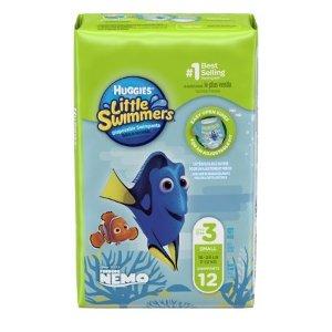 Huggies Little Swimmers 一次性游泳尿布,小号, 12 Ct