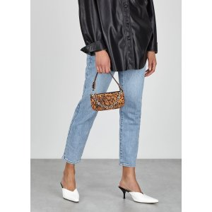 by FARRachel mini leopard-print top handle bag