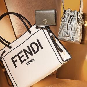 低至8折Fendi 新品特卖会  加州天空系列托特包$1499