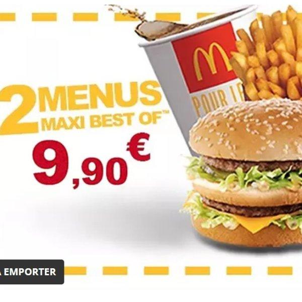McDonald's 麦当劳  Maxi Best of午餐2份