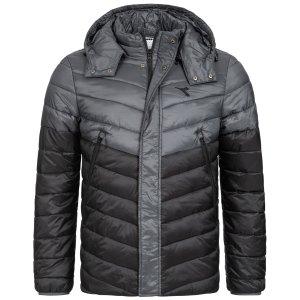 Diadora 迪亚多纳 男式薄款冬季棉服 4.4折特卖 帽子可拆卸变身立领夹克