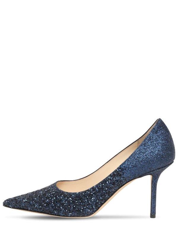 LOVE 蓝色水晶鞋