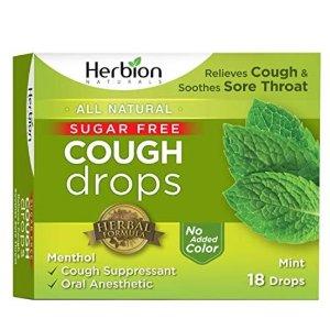 $2.41Herbion Naturals Sugar-Free Cough Drops with Natural Mint Flavor, 18 Drops,