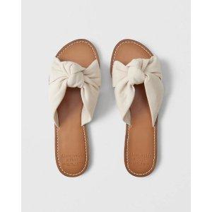 Womens Knot Slide Sandals | Womens Summer Sale | Abercrombie.com