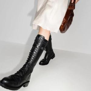 4折起 €417收短靴Ann Demeulemeester 腿精女明星都在穿的显瘦神靴 惊喜闪促