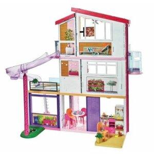 Barbie梦幻别墅 3 Floors 8 Rooms 70+ Accessories