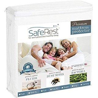 $26.95(原价$69.95)SafeRest 抗菌防潮床罩 Queen