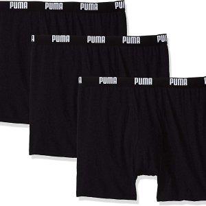 $14(原价$28)Puma 纯棉男子平角裤 黑色款 3条