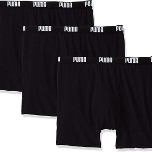 $14PUMA Men's 3 Pack 100% Cotton Boxer Brief