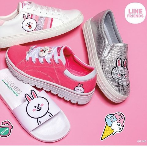 Up to 50% Offsketchers LINE FRIENDS Sneakers Sale