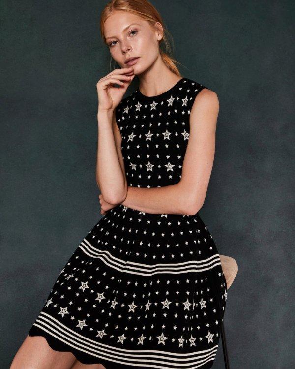 星星连衣裙