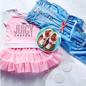 $9.99起Rue La La 精选Juicy Couture、Joe Ella等品牌女童服饰热卖