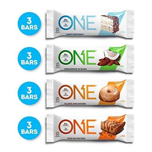 蛋白棒4种口味套装 12支 20g蛋白1支