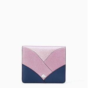 Kate Spadenadine patchwork small bifold wallet