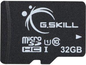 G.Skill 32GB microSDHC UHS-I/U1 Class 10 Memory Card