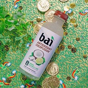现价$13.41 美味又健康Bai 青柠口味果汁调味椰子水 18oz 12瓶