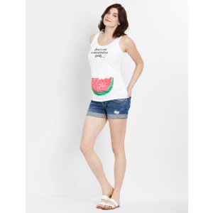 Motherhood MaternityDon't Eat Watermelon Seeds Maternity Graphic Tank Top