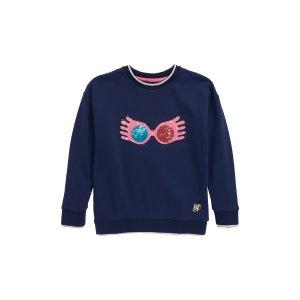 Mini BodenHarry Potter Luna Flip Sequin Sweatshirt