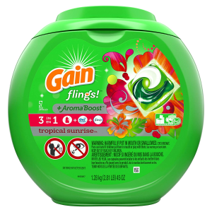 $14.63(原价$16.99)Gain Flings 便捷速溶果冻洗衣球 57只装