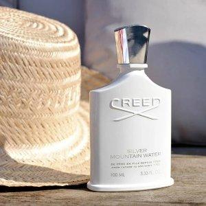9折 + 返券$15 + 送4件套Creed 银色山泉 朴灿烈推荐香水