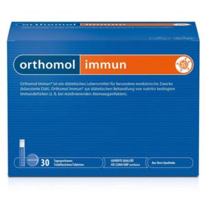 全球直邮包括国内德货之光:德国顶级 奥适宝Orthomol Immun成年人增强免疫系统营养瓶+含片(30支装)
